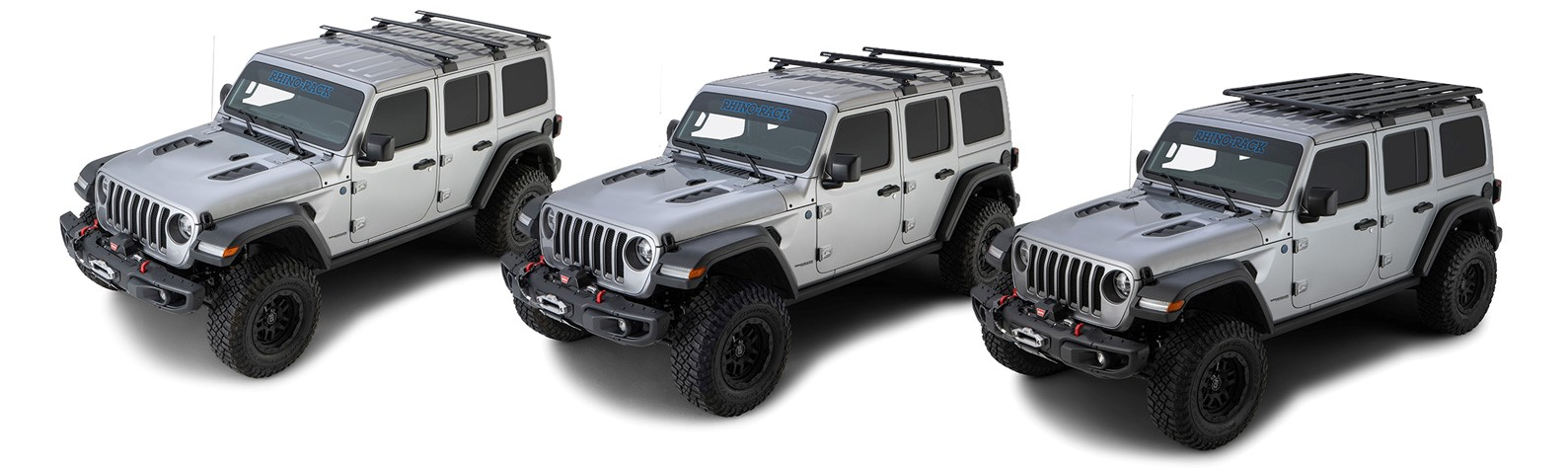 Jeep JL fitted with a Pioneer Platform on the Backbone with (RCL) low profile locking legs
